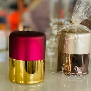 Beautiful LUX candles festive, gold, silver taupe